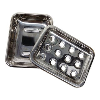 Art Deco Stainless Hotel Soap Dish