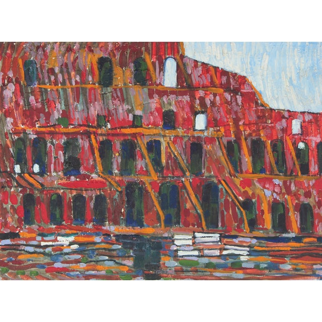 """1971 """"The Colosseum, Rome"""" Oil on Canvas - Image 1 of 2"""