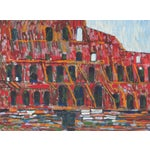 """Image of 1971 """"The Colosseum, Rome"""" Oil on Canvas"""