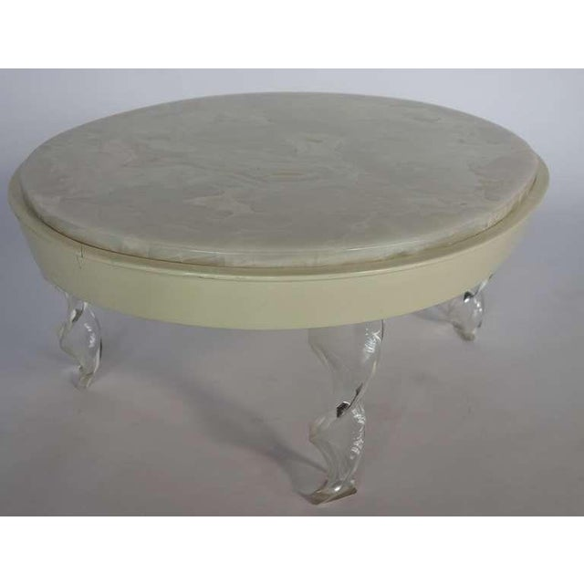 Image of Oval Onyx & Lucite Cocktail Table
