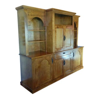 Contemporary Mission Style Entertainment Cabinet
