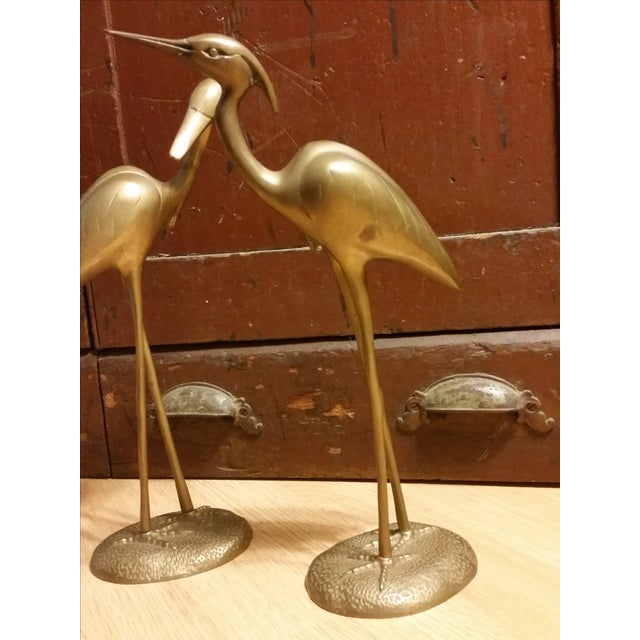 Hollywood Regency Brass Herons - A Pair - Image 3 of 7