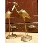Image of Hollywood Regency Brass Herons - A Pair