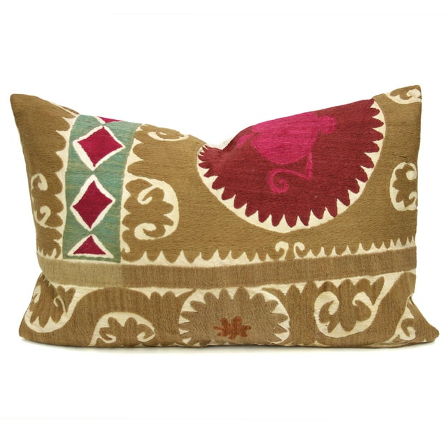 Image of Vintage Suzani Diamond Pillow