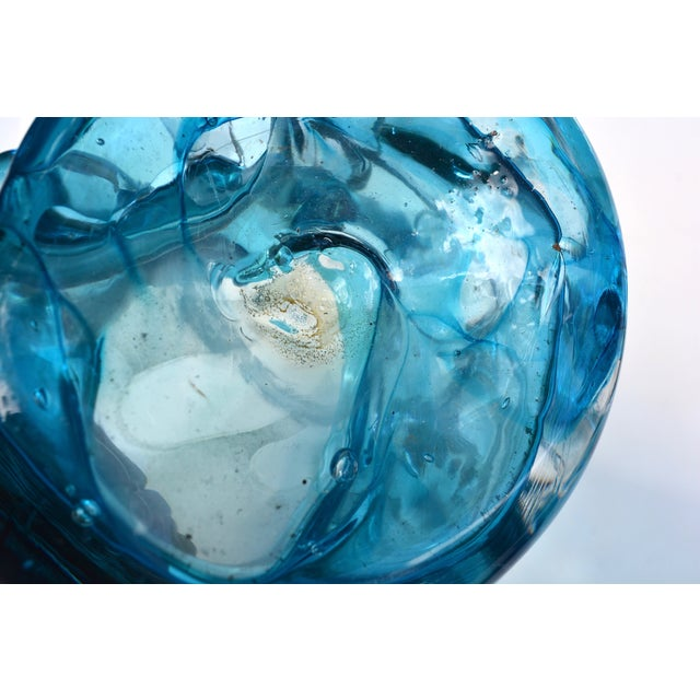 Turquoise Blue Abstract Sculptural Vase - Image 5 of 5