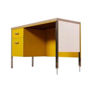 Mid-Century Modern Yellow Steel Desk