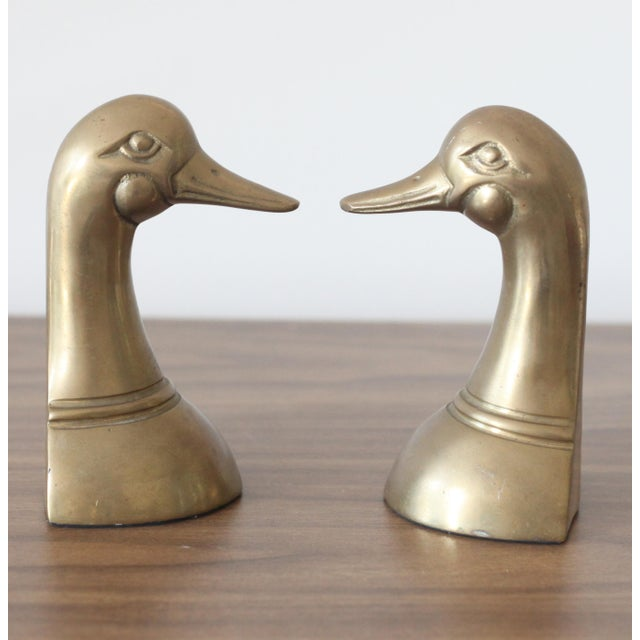 Brass Duck Head Bookends - Pair - Image 4 of 4