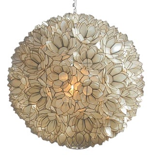 Capiz Shell Lotus Hanging Chandelier