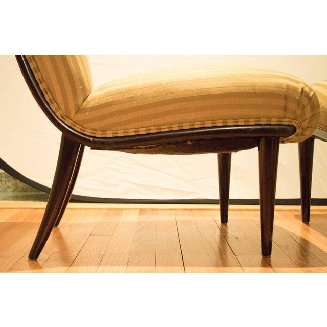 Viennese Biedermeier Style Art Deco Flare Slipper Chairs - a Pair - Image 7 of 9