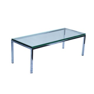 Glass and Chrome Coffee Table