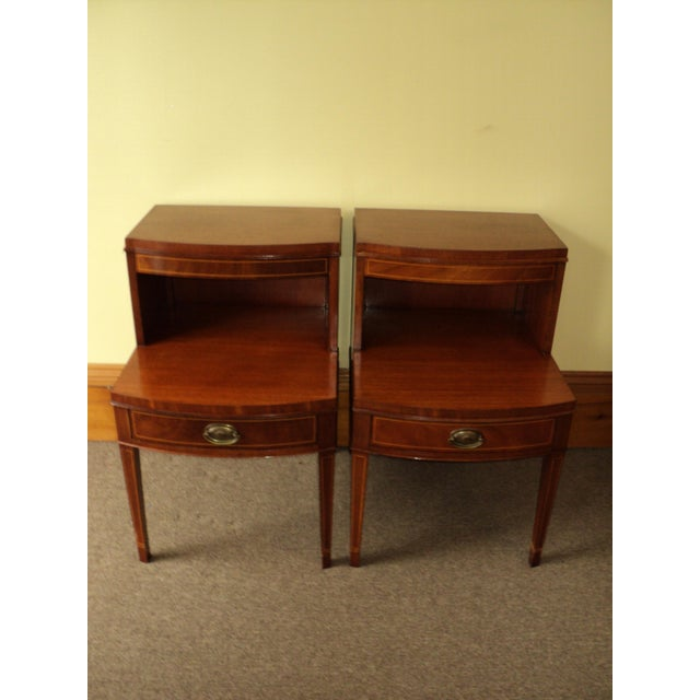 Antique Federal Style Mahogany Nightstands - A Pair - Image 2 of 8