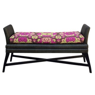 Modern Ming Woven Bench