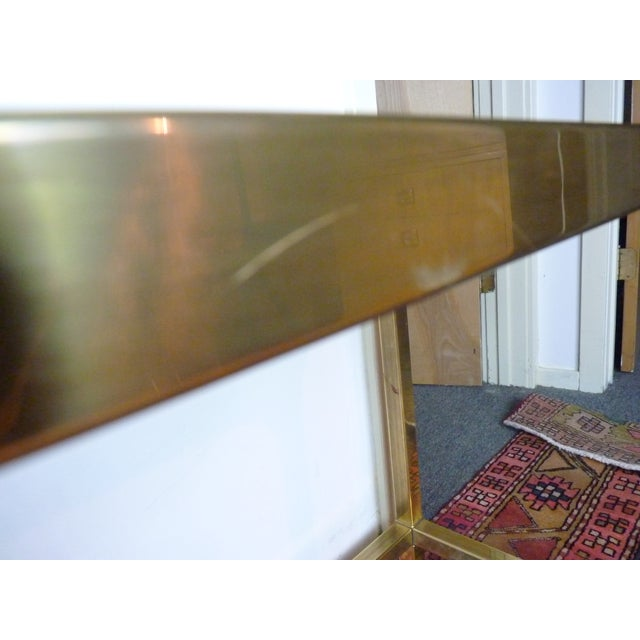 Mastercraft Vintage Brass & Glass Console Table - Image 8 of 11