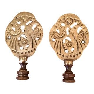 Brass Antique Finials - A Pair