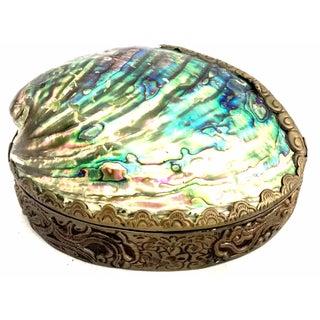 Iridescent Hinged Shell Dish
