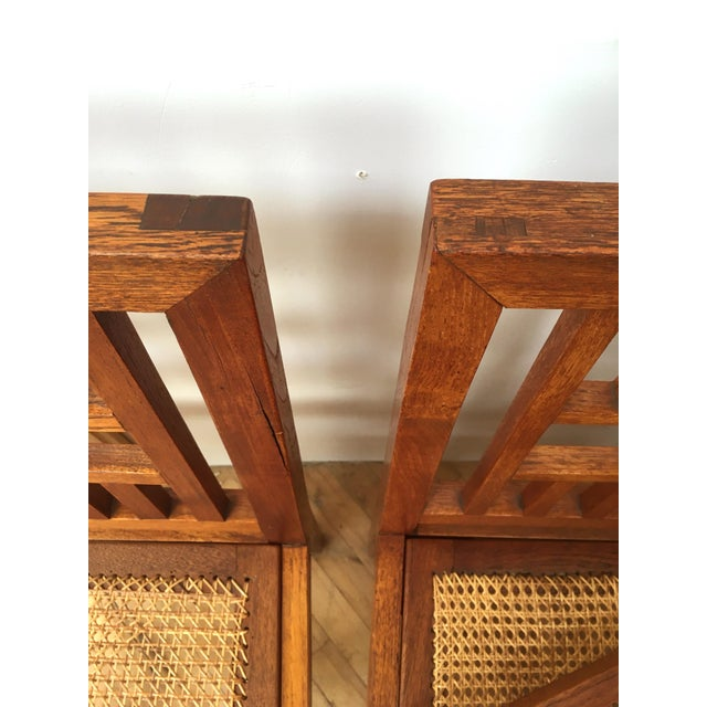 Antique Arts & Crafts Chairs- Hand Caned Craftsman Oak - Image 7 of 11