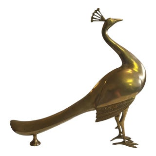 Extra Large Brass Peacocks - A Pair
