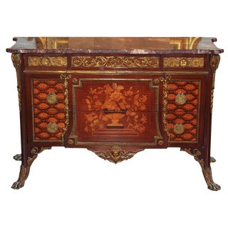 Fine French Marquetry & Bronze Mounted Commode