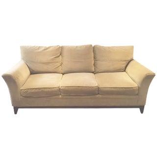 """Stickley """"Keeler"""" Sofa in Camel Velvet"""