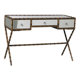 Mid-Century Modern Faux Bamboo Desk
