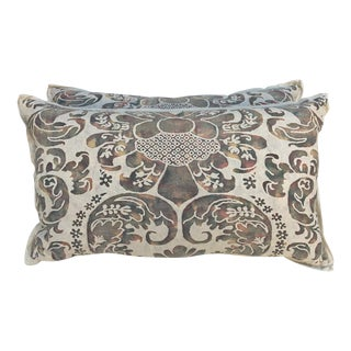 Soft Faded Fortuny Pillows - A Pair