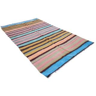 Turkish Flat-Weave Oushak - 4′11″ × 7′11″