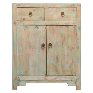 Chinese Side Cabinet in Rustic Light Blue
