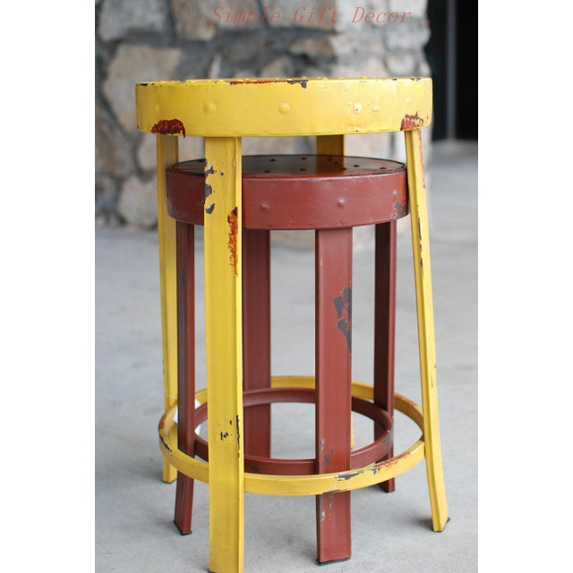 French Bistro Stools - A Pair - Image 2 of 5