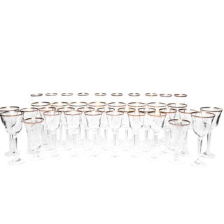 "Mikasa ""Wheaton"" Lead Crystal Glassware - Set of 39"