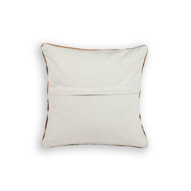 Image of Striped Yellow Turkish Kilim Pillow