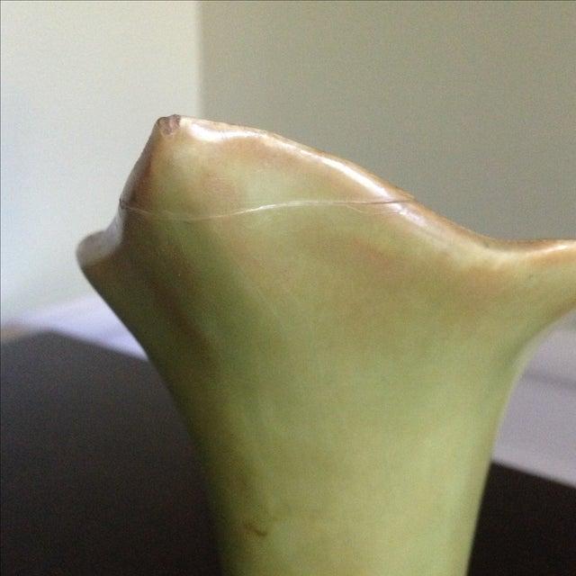 Image of Mid-Century Lily & Leaf Ceramic Vase