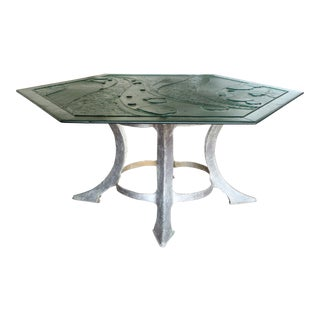 Murano Glass & Torch Cut Table