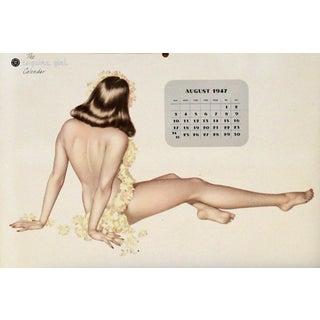 Miss August Vintage 1947 Calendar