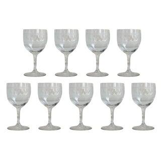 Vintage Fleur de Lis Sherry Glasses - Set of 9