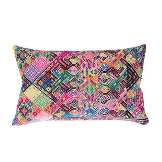 Vintage Guatemalan Geometric Pillow