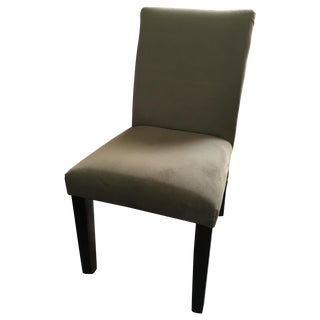 West Elm Dark Grey Tailored Dining Chairs - S/4