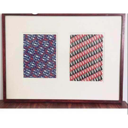 Image of Authur Litt Original Red & Black Textile Painting