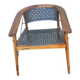 Mid-Century Style Wood and Metal Chair