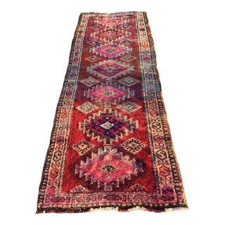 Colorful Vintage Turkish Runner - 3' X 9'2""