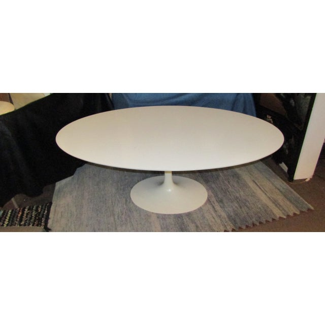 Authentic VIntage Knoll Saarinen Oval Tulip Base Dining Table - Image 2 of 7