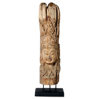 Cambodian Hand Carved Statue