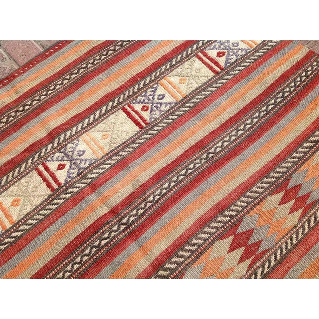 "Vintage Turkish Kilim Rug - 5'4"" x 8'11"" - Image 4 of 6"