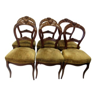 Victorian Balloon Back Dining Chairs - Set of 6