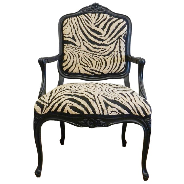 Louis XIV French Provincial Occasional Chair - Image 1 of 6