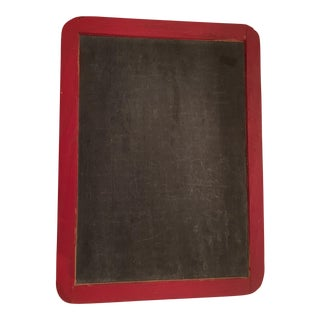 Vintage School House Red Chalk Board