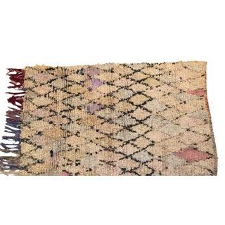 """Vintage Boucherouite Carpet - 5'4"""" X 3'8"""""""