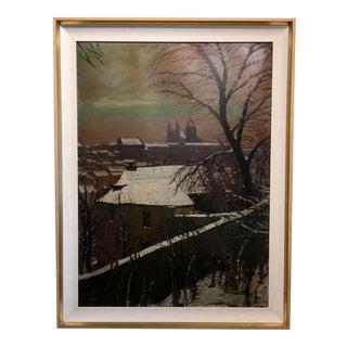 Original Oil Painting of Prague