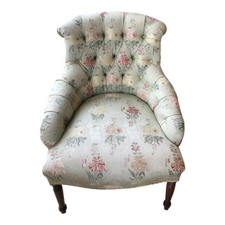 Tufted Slipper Occasional Chair