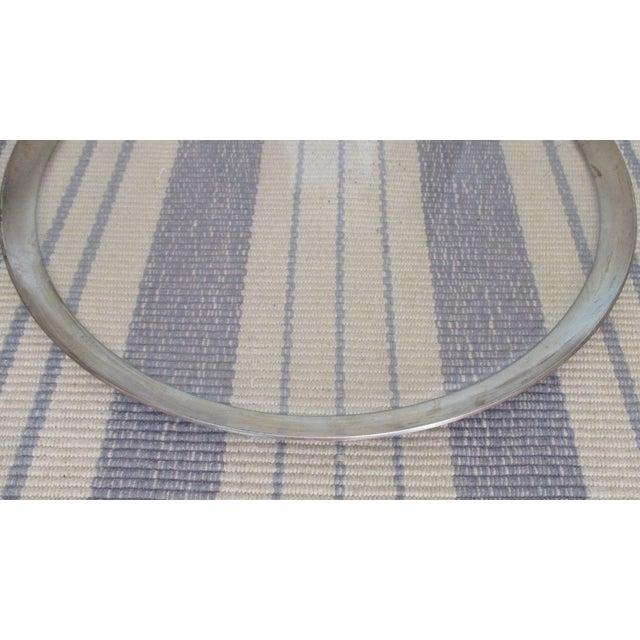Dorothy Thorpe Mid-Century Glass Silver Rim Tray - Image 8 of 11