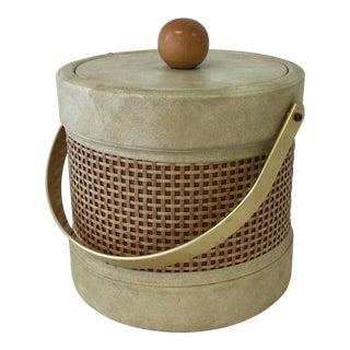 Kraftware Rattan Woven Ice Bucket With Brass Handle